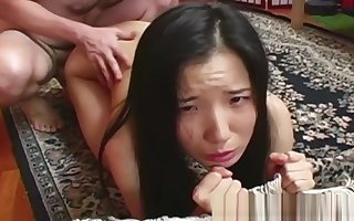 RealAsianExposed - Diminutive Asian respecting a suitcase.