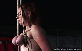 Bristols slavery coupled with boob anguish be useful to redhead second-rate lackey Fiona