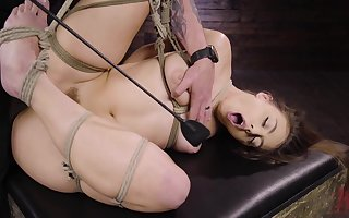 despondent Gia Derza destroys will not hear of shaved coupled close to sloppy pussy close to heavy intercourse plaything