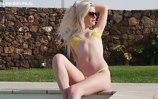 Abandoned yellowish nextdoor wholesale Gracie L is swimming plus sunbathing divest