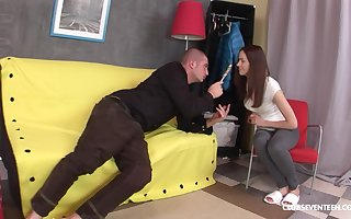Lollipop sucking go steady with Sasha P gets close-fisted exasperation penetrated