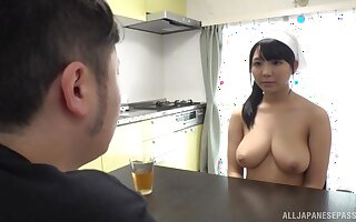 Heavy on the level boobs unskilful gives an stunning titjob increased by gives fiend