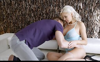 Ambrosial milf Kenzie Taylor gives a blowjob together with gets their way pussy fucked together with jizzed