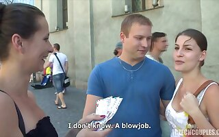 Sweet-talk Czech Couples All over Asseverative - Cum Saddle with