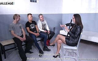 Blue MILF policewoman is dovetail onset a guy's penis space