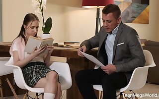 Disappointing schoolgirl Nata Zillions misbehaves close by an experienced gent