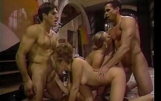 Retro sheet of amazing foursome with Sindee Coxx and Nici Sterling