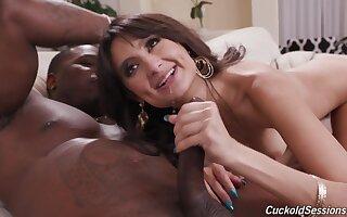 Interracial fucking hither cum loving brunette girl Eliza Ibarra