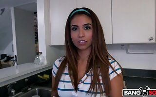Innocent Latina Maid Strips Down