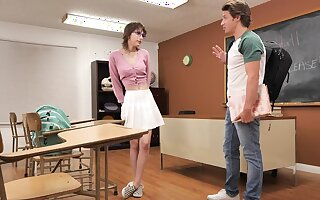 Seductive tutor Tristan Summers gets fucked hard in the lecture-hall
