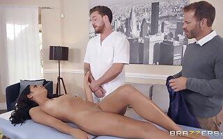 Slutty wife Vienna Black is cheating on her scrimp to handsome massage boy